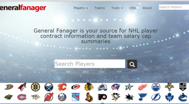 76f7e503499 New salary cap site General Fanager lauded by hockey fans