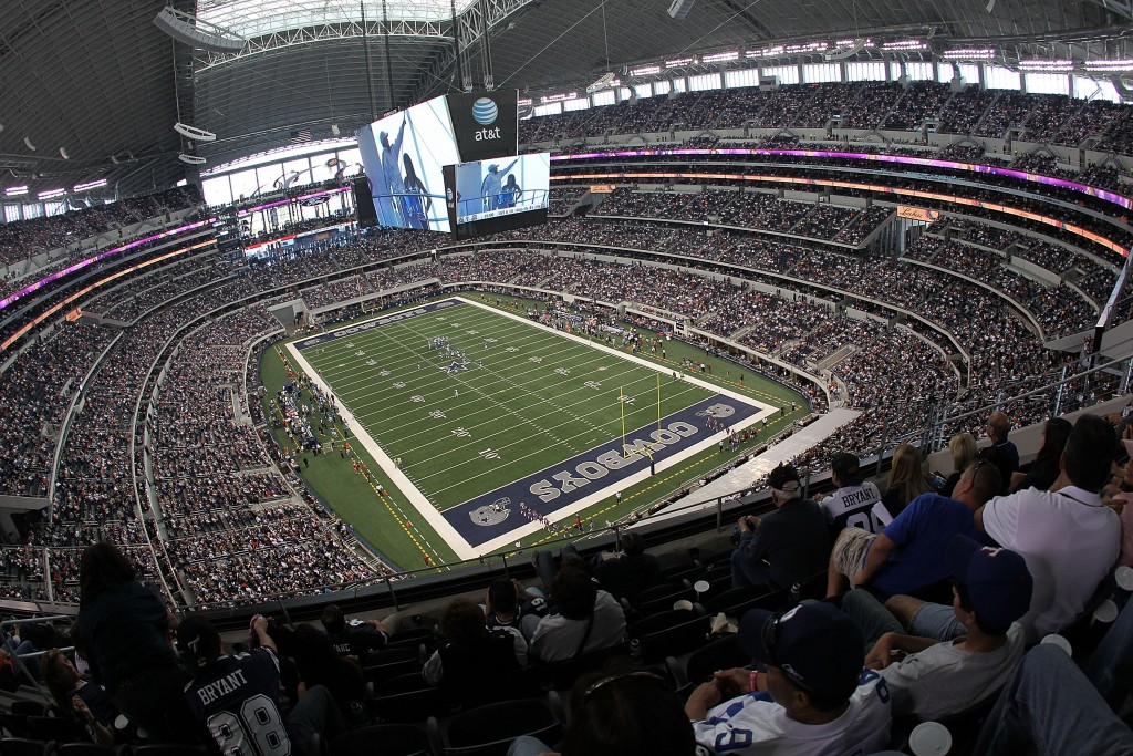 ARLINGTON, TX - OCTOBER 31:  A general interior view of Cowboys Stadium as the Dallas Cowboys play against the Jacksonville Jaguars at Cowboys Stadium on October 31, 2010 in Arlington, Texas.  (Photo by Ronald Martinez/Getty Images)