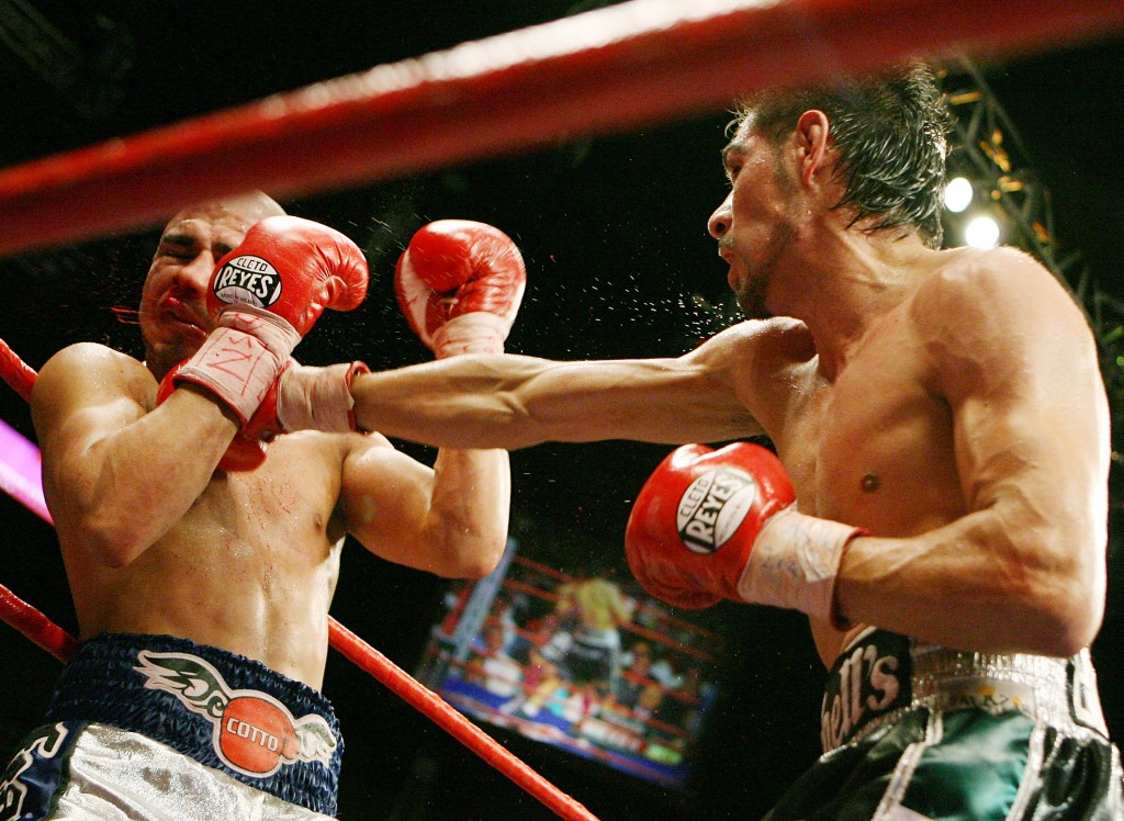 Margarito connects on Cotto en route to victory. (Photo by Ethan Miller/Getty Images)