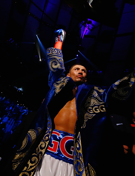 Gennady Golovkin before his showdown against David Lemieux in their middleweight bout at Madison Square Garden on Oct. 17 in New York City; Photo: Al Bello, Getty Images