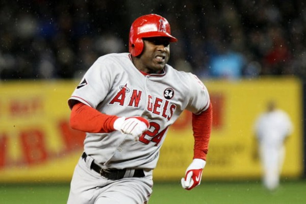 NEW YORK - OCTOBER 17:  Gary Matthews Jr. #24 of the Los Angeles Angels of Anaheim rounds third base on his way to scoring in the 11th inning against the New York Yankees during Game Two of the ALCS during the 2009 MLB Playoffs at Yankee Stadium on October 17, 2009 in the Bronx borough of New York City.  (Photo by Nick Laham/Getty Images)
