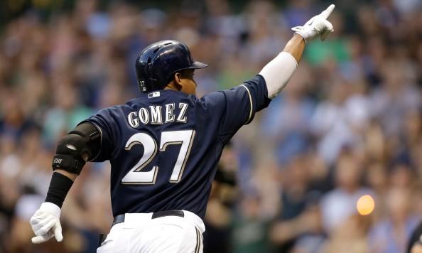 Brewers outfielder Carlos Gomez
