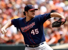 Twins pitcher Phil Hughes