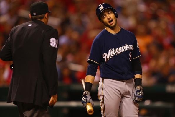Brewers outfielder Ryan Braun