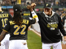 Pirates Andrew McCutchen and Clint Hurdle