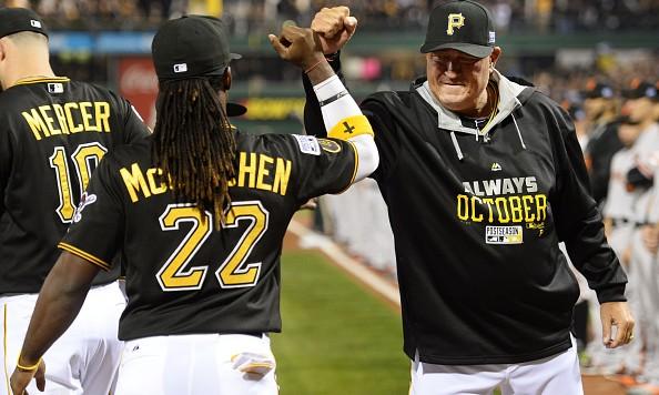 Pirates Andrew McCutchen and Clint Hurdle