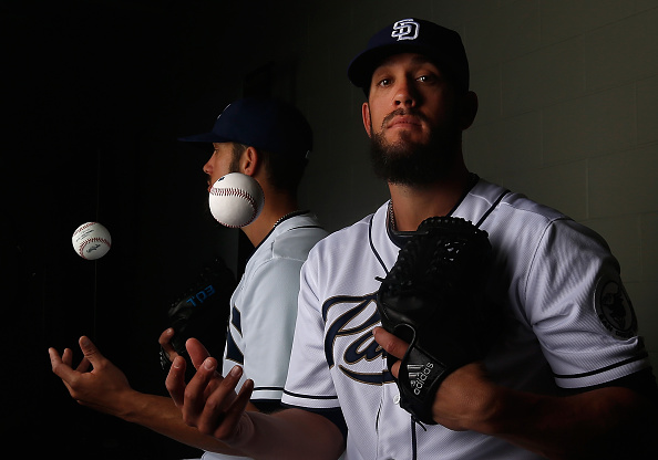 PEORIA, AZ - MARCH 02:  Pitcher James Shields #33 of the San Diego Padres poses for a portrait during spring training photo day at Peoria Stadium on March 2, 2015 in Peoria, Arizona.  (Photo by Christian Petersen/Getty Images)