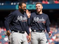 Braves players Freddie Freeman and Matt Kemp