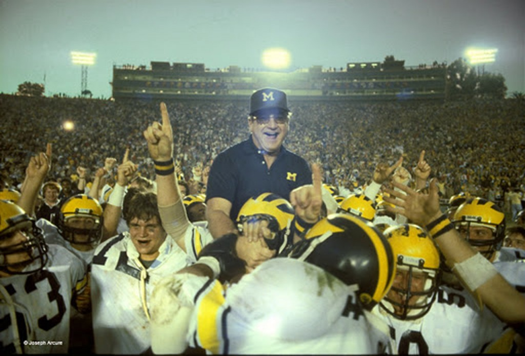 This photo comes from the 1981 Rose Bowl, which gave Bo Schembechler his first win in the Granddaddy at Michigan.