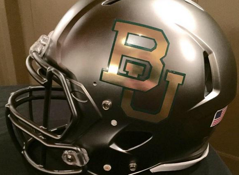 Baylor gray football helmet