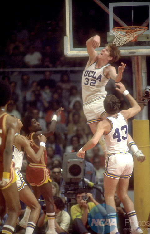 25 MAR 1972:  UCLA center Bill Walton (32) during the NCAA Men's National Basketball Final Four championship game held in Los Angeles, CA, at the Sports Arena. UCLA defeated Florida State 81-76 for the title. Photo by Rich Clarkson/NCAA Photos SI CD0431-51