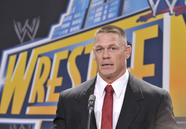 EAST RUTHERFORD, NJ - FEBRUARY 16: John Cena attends a press conference to announce that MetLife Stadium will host WWE Wrestlemania 29 in 2013 at MetLife Stadium on February 16, 2012 in East Rutherford, New Jersey. (Photo by Michael N. Todaro/Getty Images)