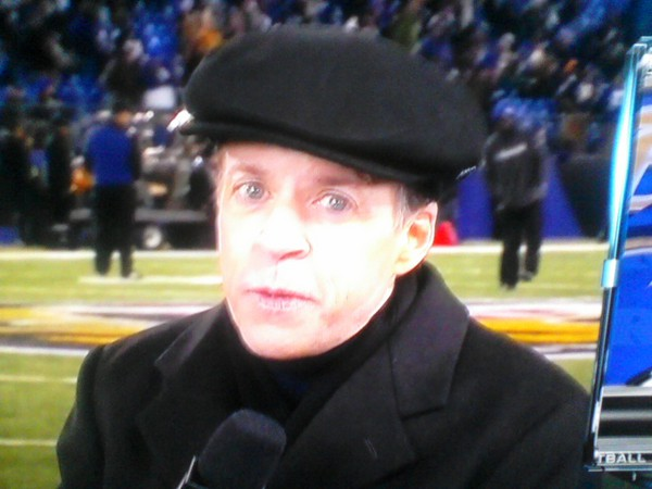 Bob Costas old timey newsboy