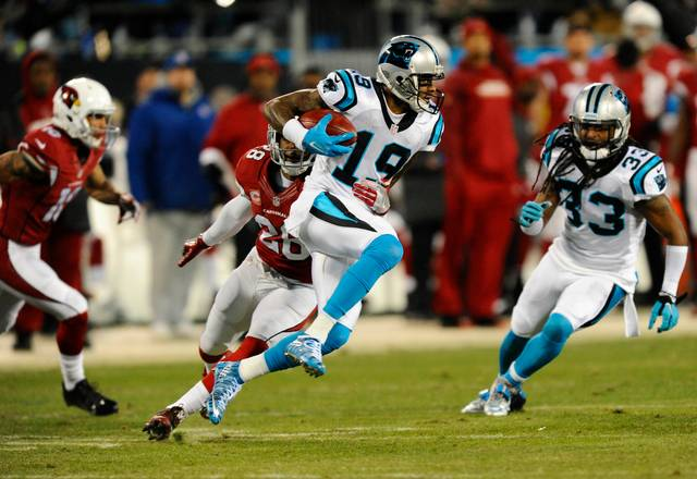 Ted Ginn, Jr., was one of many skilled playmakers who powered the Carolina Panthers to a 17-1 record this season. Win number 18 on February 7 in Santa Clara, California, will give the Panthers their first Super Bowl championship.