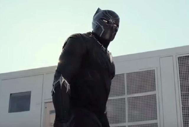 Chadwick Boseman as Black Panther in 'Captain America: Civil War.' (Screen cap via Marvel.)