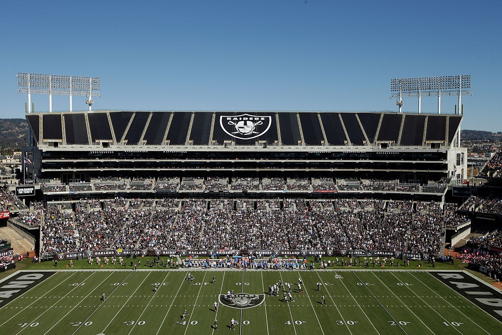 OAKLAND, CA - OCTOBER 12:  A general view during the Oakland Raiders game against the San Diego Chargers at O.co Coliseum on October 12, 2014 in Oakland, California.  (Photo by Ezra Shaw/Getty Images)