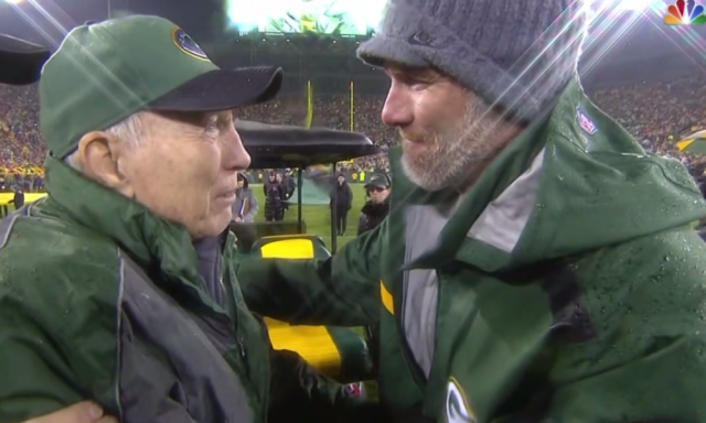 The two greatest quarterbacks in Green Bay Packers history, Bart Starr and Brett Favre, meet on Thanksgiving night during a halftime ceremony. Favre will join Starr as a member of the Pro Football Hall of Fame.
