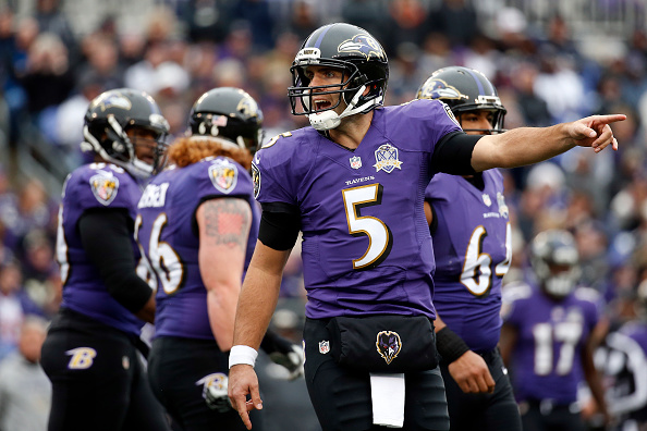 "Joe Flacco, not screaming ""Ocean City"""