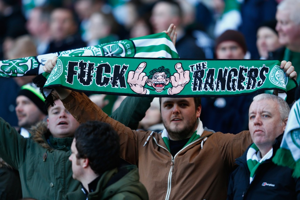 during the Scottish League Cup Semi-Final between Celtic and Rangers at Hampden Park on February 1, 2015 in Glasgow, Scotland.