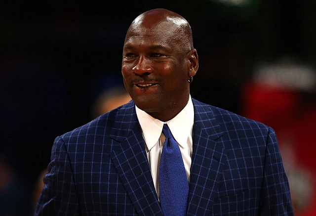 TORONTO, ON - FEBRUARY 14: NBA hall of famer and Charlotte Hornets owner Michael Jordan walks off the court during the NBA All-Star Game 2016 at the Air Canada Centre on February 14, 2016 in Toronto, Ontario. (Photo by Elsa/Getty Images)