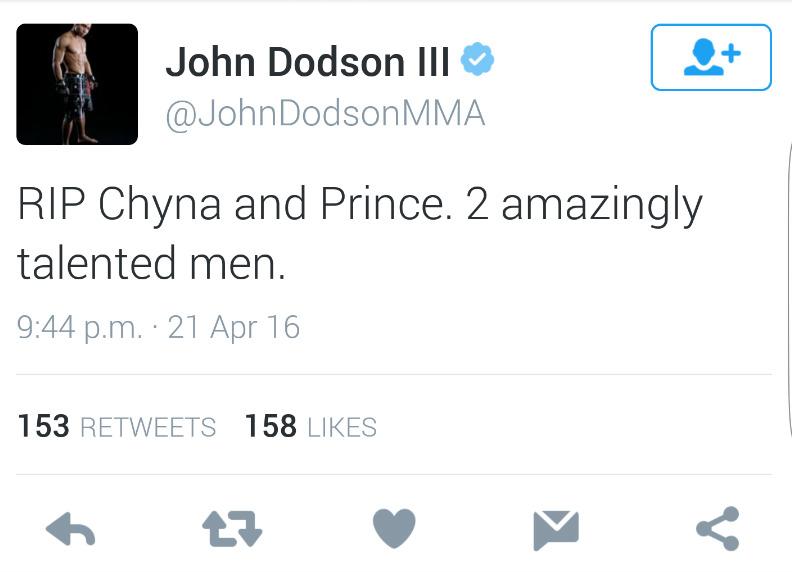 UFC John Dodson Deleted Tweet