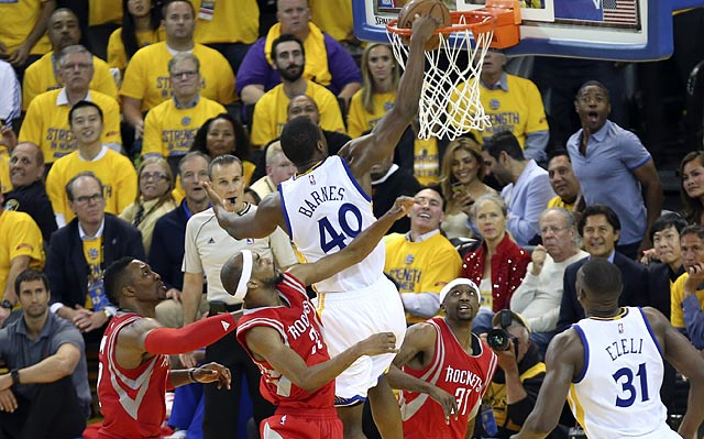 Harrison Barnes's ability to hit corner threes and space the floor will be needed in Game 2 against the Rockets.