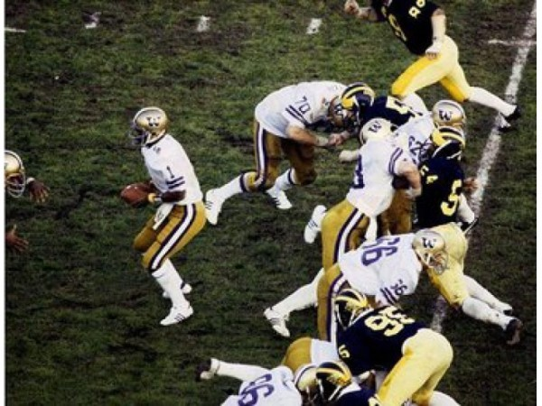 When Michigan lost the 1978 Rose Bowl to Washington, Bo Schembechler fell to 0-4 in Rose Bowls. His final record in the Granddaddy was 2-8.