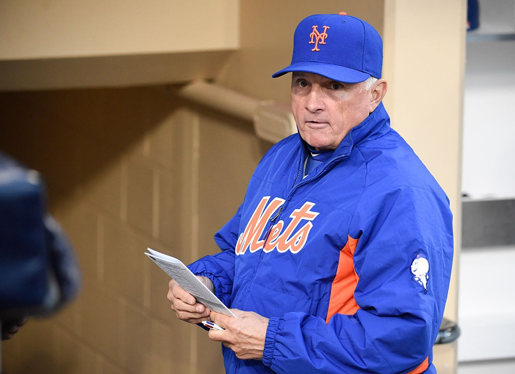 SAN DIEGO, CALIFORNIA - MAY 5: Terry Collins #10 manager of the New York Mets looks on from the dugout before a baseball game against the San Diego Padres at PETCO Park on May 5, 2016 in San Diego, California. (Photo by Denis Poroy/Getty Images)