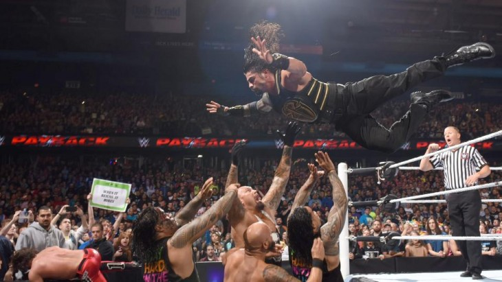 roman reigns dive wwe payback
