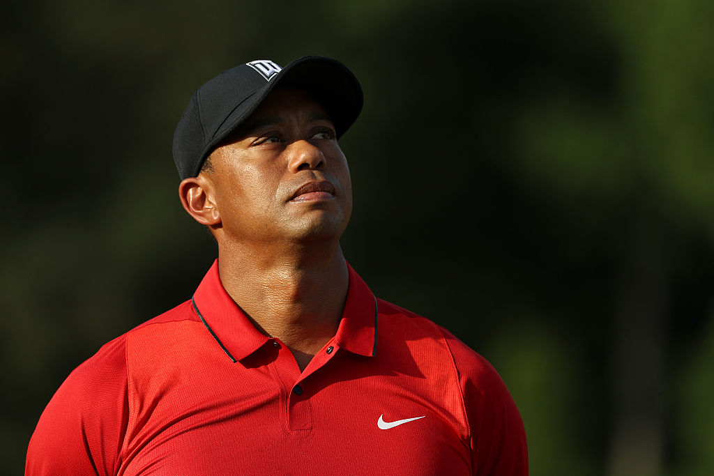 Tiger Woods, who won't be in the PGA Championship