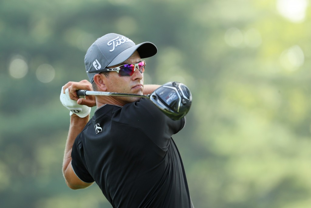 SPRINGFIELD, NJ - JULY 25: Adam Scott of Australia hits a tee shot on the 15th hole during a practice round prior to the 2016 PGA Championship at Baltusrol Golf Club on July 25, 2016 in Springfield, New Jersey.  (Photo by Andrew Redington/Getty Images)