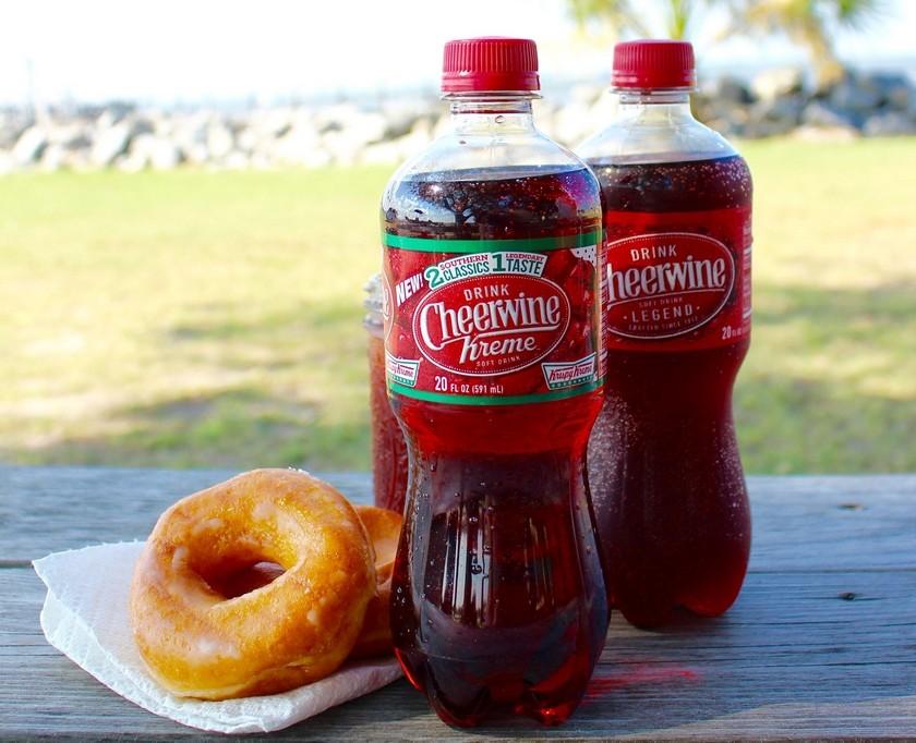 4a84560628c1 Cheerwine and Krispy Kreme is teaming up to make doughnut soda