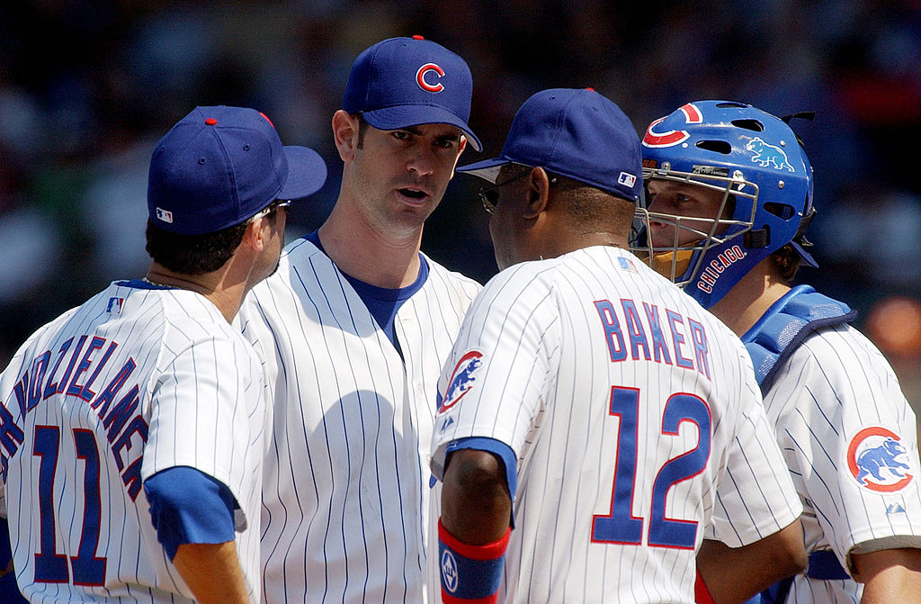 Mark Prior and Dusty Baker
