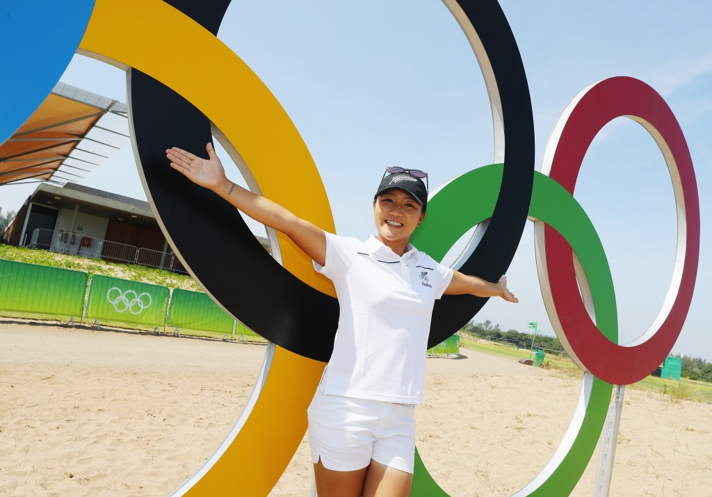RIO DE JANEIRO, BRAZIL - AUGUST 15:  Lydia Ko of New Zealand poses during a practice round prior to the start of the women's golf during Day 10 of the Rio 2016 Olympic Games at Olympic Golf Course on August 15, 2016 in Rio de Janeiro, Brazil.  (Photo by Scott Halleran/Getty Images)