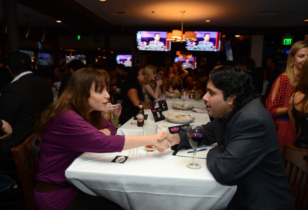 """LOS ANGELES, CA - JUNE 05:  Atmosphere inside at  Fox's """"Take Me Out"""" Speed Dating Event at South Restaurant & Bar on June 5, 2012 in Los Angeles, California.  (Photo by Frazer Harrison/Getty Images)"""