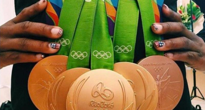The United States won, like, a lot of medals. Screen shot via Simone Biles.