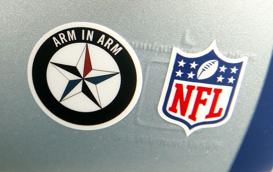Dallas Cowboys helmet sticker