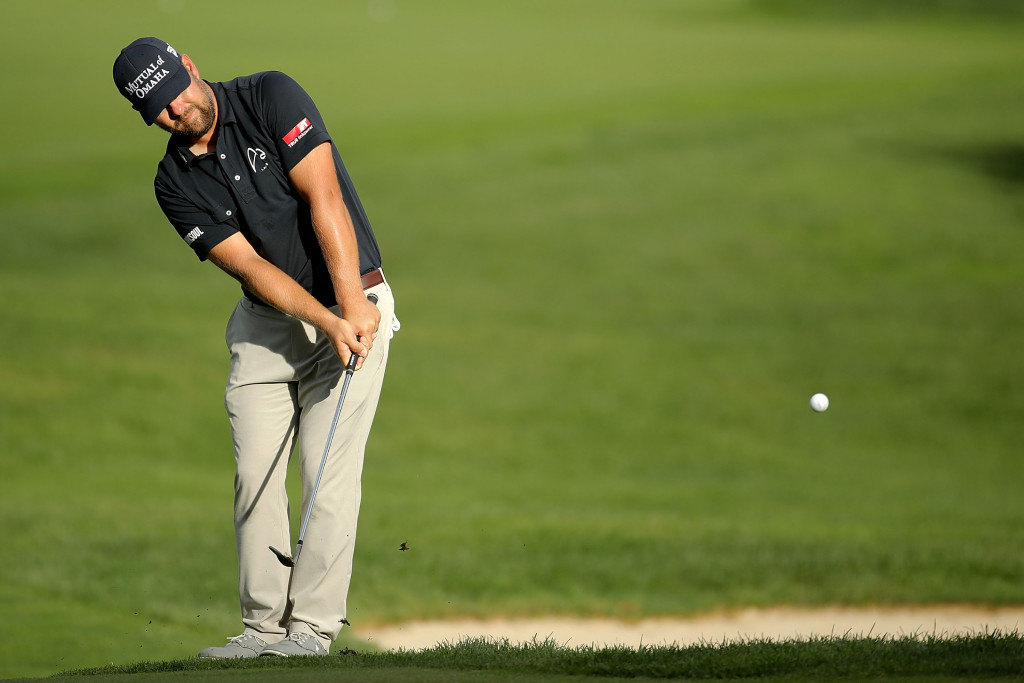 CARMEL, IN - SEPTEMBER 08:  Ryan Moore hits his second shot on the fourth hole during the first round of the BMW Championship at Crooked Stick Golf Club on September 8, 2016 in Carmel, Indiana.  (Photo by Andy Lyons/Getty Images)