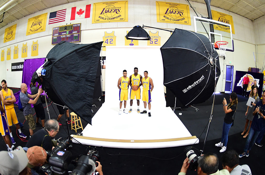 Lakers team pic, excluding Kobe
