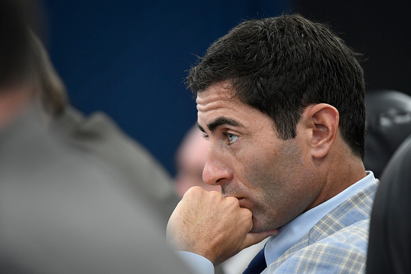 SAN DIEGO, CA - JUNE 9: AJ Preller of the San Diego Padres Baseball watches the first round in the 2016 MLB Amateur Draft at PETCO Park on June 9, 2016 in San Diego, California. (Photo by Andy Hayt/San Diego Padres/Getty Images)