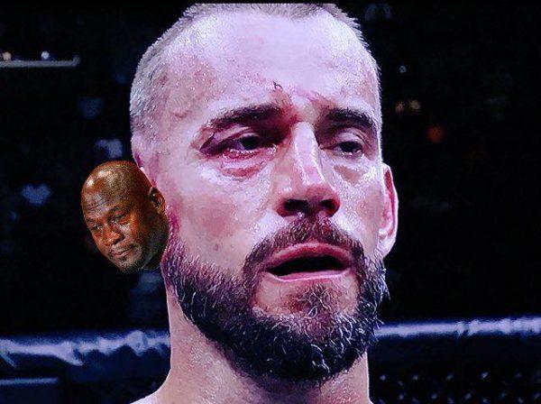 CM Punk Crying Jordan Meme