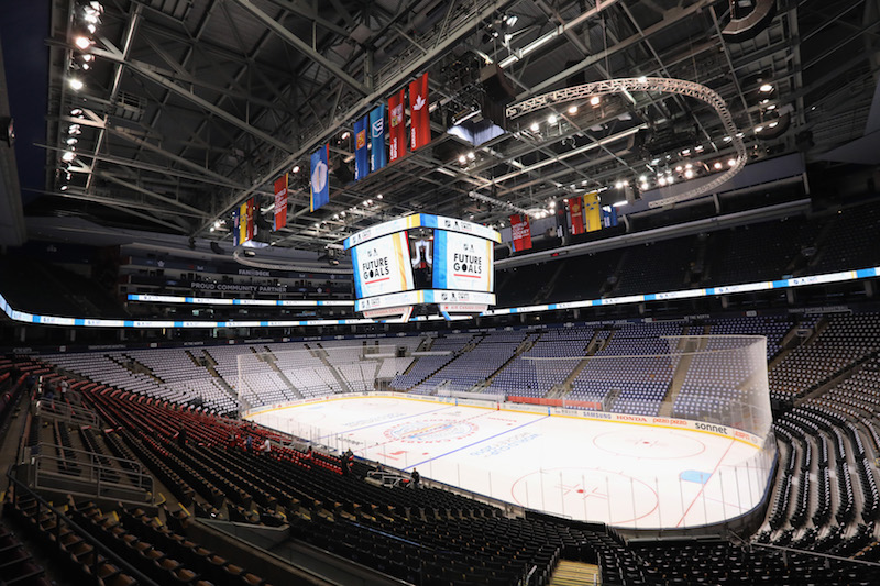 TORONTO, ON - SEPTEMBER 13: A general view of the rink prior to the start of the World Cup of Hockey tournament at the Air Canada Centre on September 13, 2016 in Toronto, Canada.  (Photo by Bruce Bennett/Getty Images)