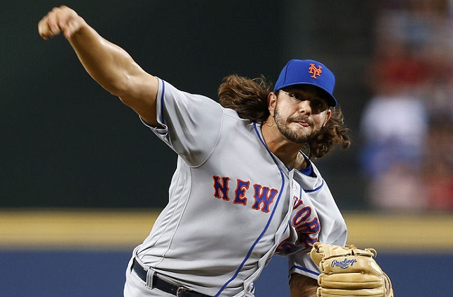 ATLANTA, GA - SEPTEMBER 09: Pitcher Robert Gsellman #65 of the New York Mets throws a pitch in the first inning during the game against the Atlanta Braves at Turner Field on September 9, 2016 in Atlanta, Georgia. (Photo by Mike Zarrilli/Getty Images)