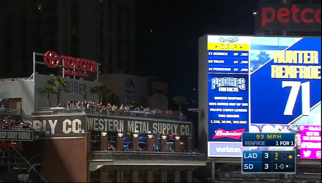 Hunter Renfroe Hit One To The Dang Western Metal Supply Building Roof At Petco Park