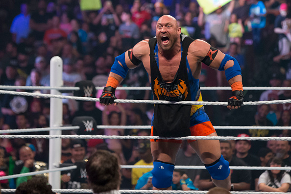 Professional wrestler Ryback attends the WWE Monday Night Raw at the Frank Erwin Center on April 6, 2015 in Austin, Texas. (Photo by Suzanne Cordeiro/Corbis via Getty Images)