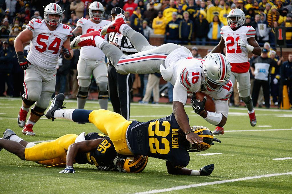 at Michigan Stadium on November 28, 2015 in Ann Arbor, Michigan.