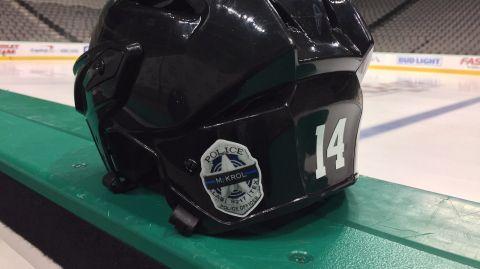 Dallas Stars helmet sticker