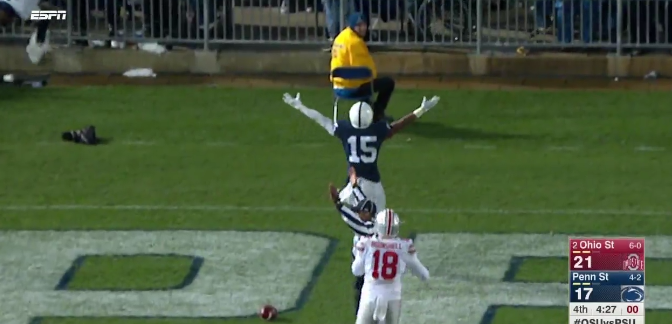 Penn State blocked kick