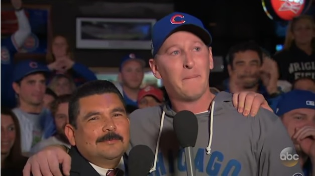 Crying Cubs fan