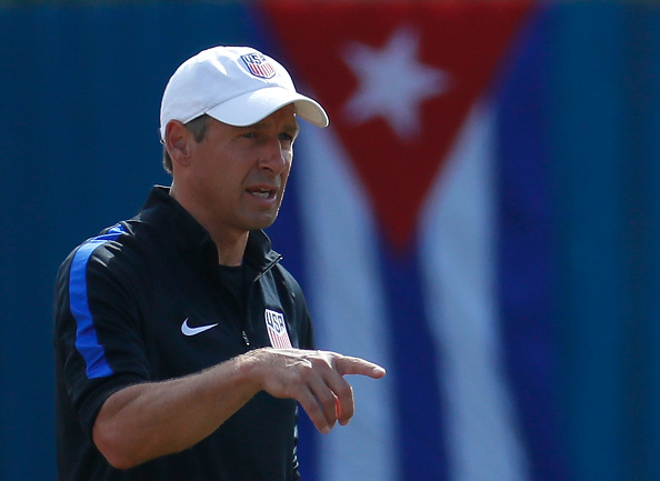 HAVANA, CUBA - OCTOBER 06:  Jurgen Klinsmann of the United States looks on during the US Men's National Team Training at Estadio Pedro Marrero on October 6, 2016 in Havana, Cuba.  (Photo by Kevin C. Cox/Getty Images)